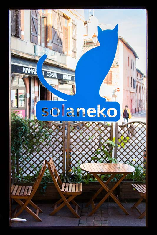 La terrasse du Solaneko - cantine japonaise et salon de thé à Toulouse ©louisderigon